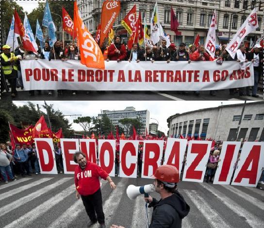 roma e parigi in piazza