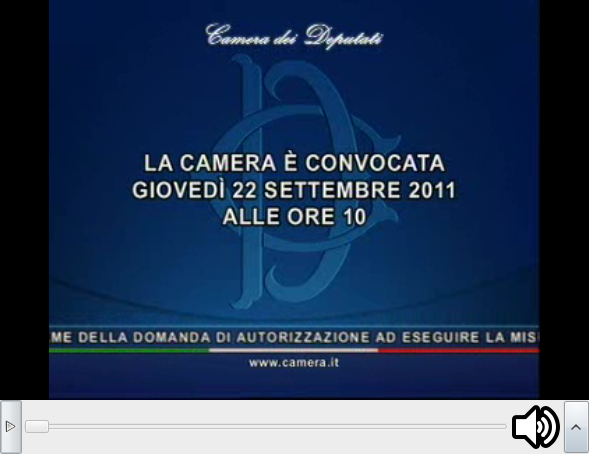 Settembre 2011 yes political for Camera diretta tv