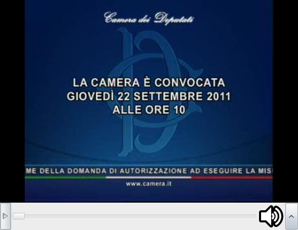 Settembre 2011 yes political for Diretta dalla camera dei deputati