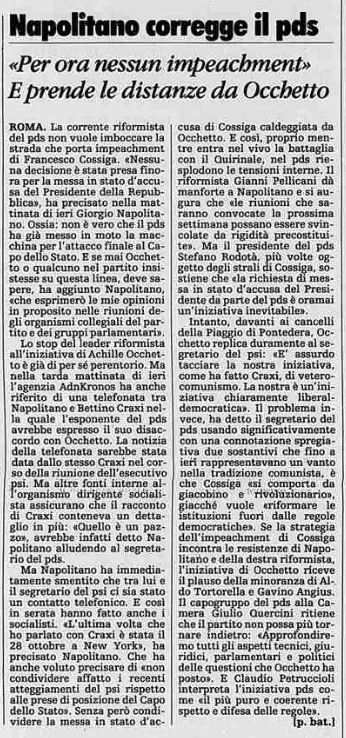 La Stampa, 23/11/1991